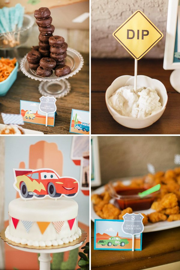 radiator springs inspired party food