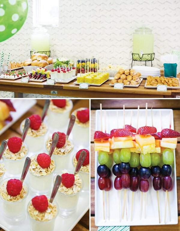 rainbow birthday party food table