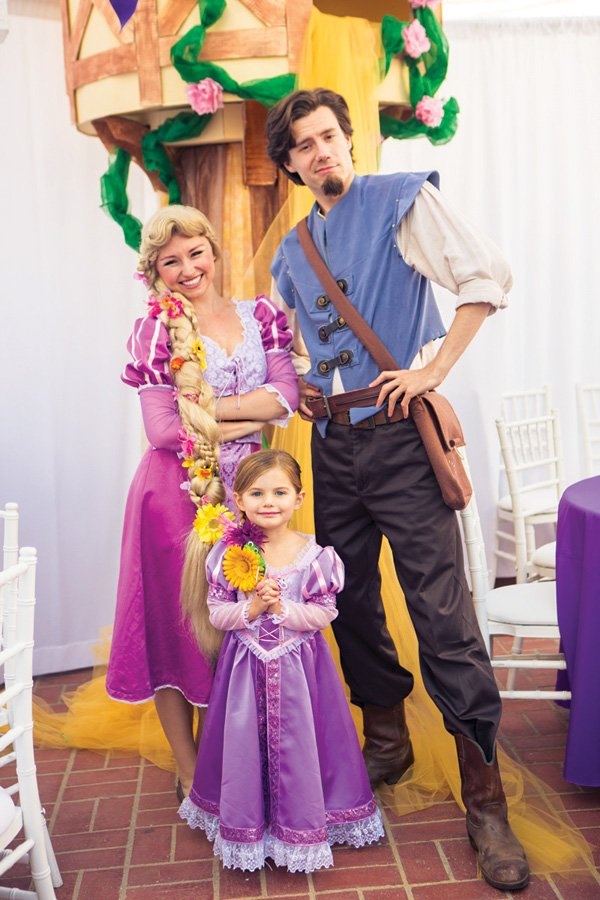 rapunzel and flynn for a tangled party