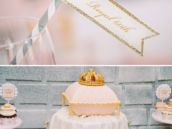 yoral crown topped pillow cake