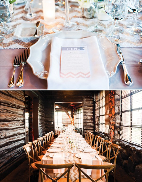 rustic glam wedding table decor