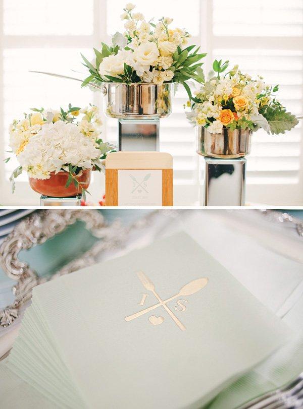 saucepan floral bouquet centerpieces