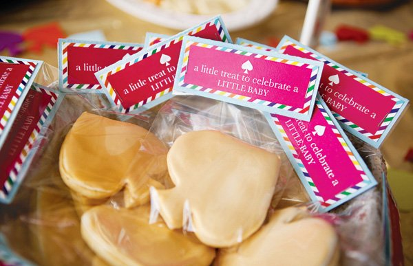 kate spade inspired baby shower cookie party favors