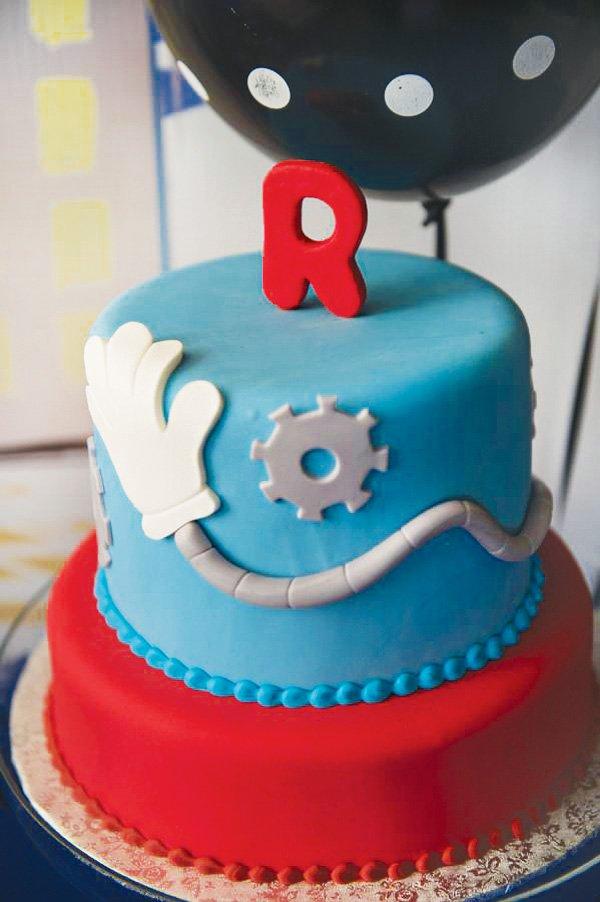 inspector gadget themed spy birthday cake