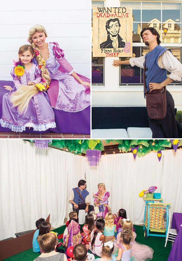flynn and rapunzel tangled party performers