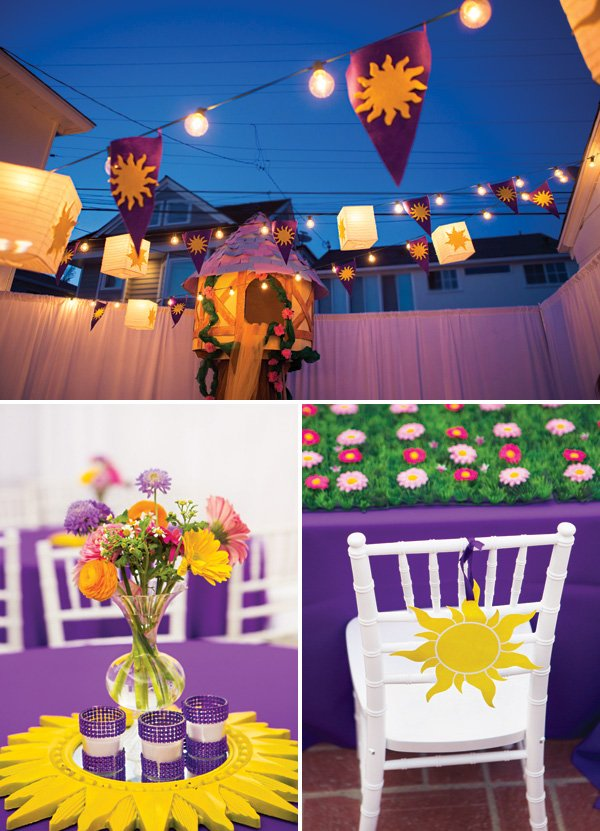 tangled sun emblem party decor