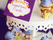 tangled tower ice cream cone cupcakes