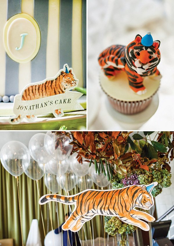 tiger themed party decor