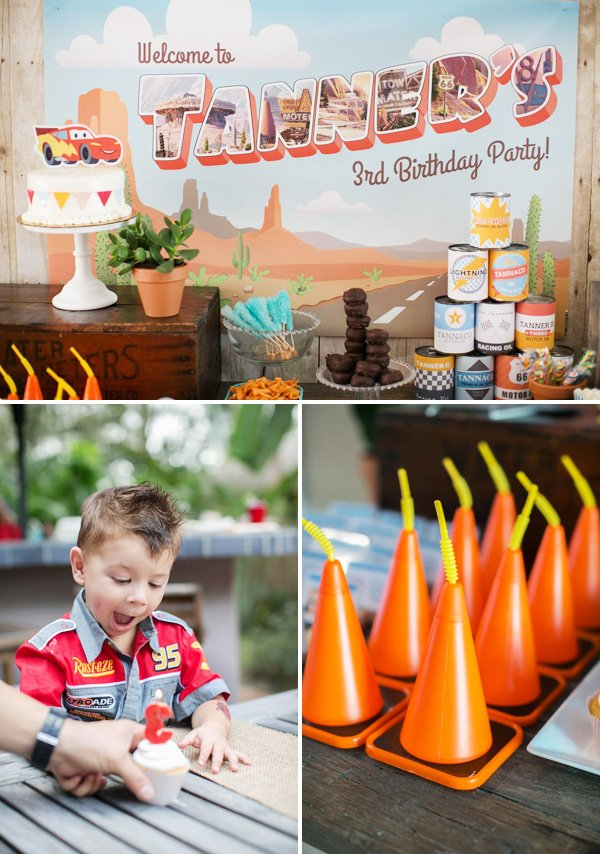traffic cone cups for a cars party