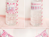 train birthday party printable bottle wraps and banner