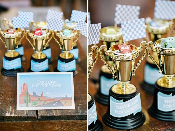 trophy cup party favors
