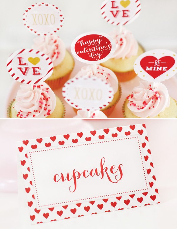 valentine's day cupcake printables