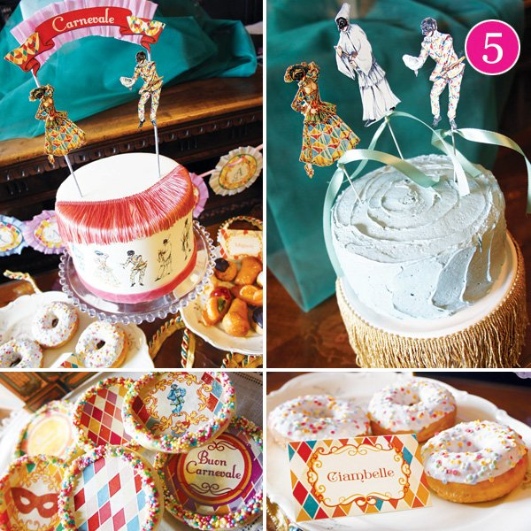 italian carnevale dessert table