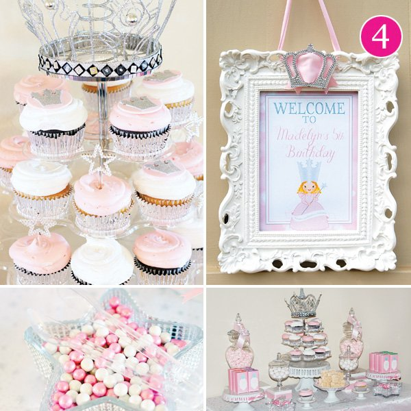 glinda the good witch themed princess birthday party
