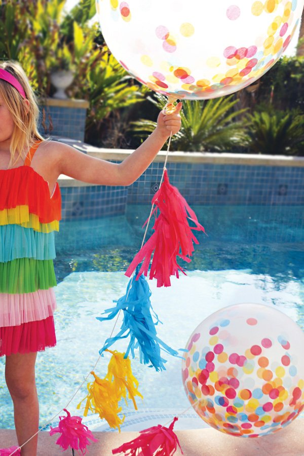 large confetti party balloons