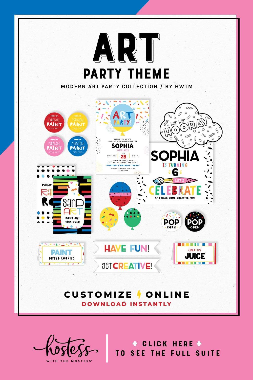 Modern Art Party Printables