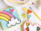 paint by party rainbow cookies