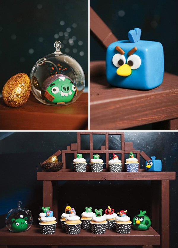 angry birds themed dessert table