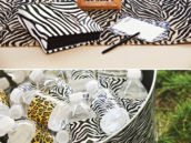 animal print party decor and printables