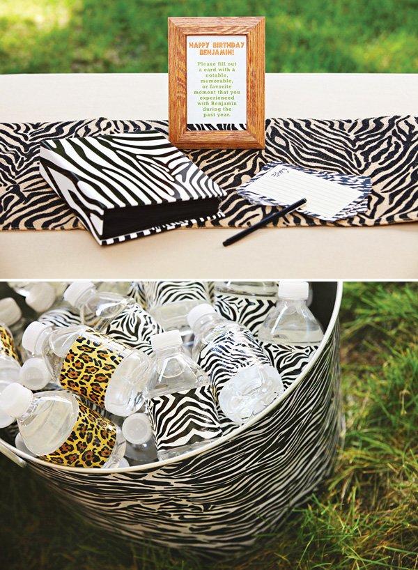 animal print party decor and printables