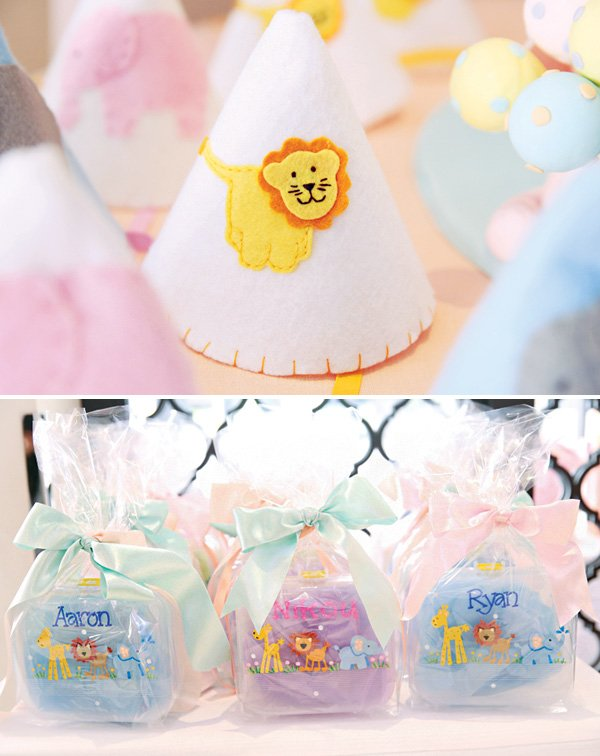 baby animal party hats and party favors