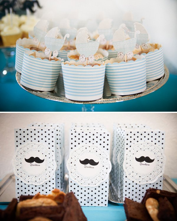 baby shower carriage topped cupcakes and dessert ideas