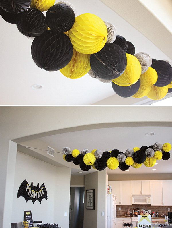 Modern Batman Birthday Party with DIY Gotham City Hostess with