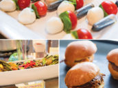 caprese party skewers and other party foods