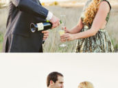 champagne toast to being engaged