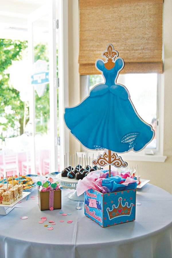 cinderella dessert table and dress silhouette