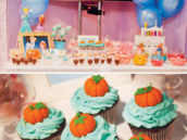 cinderella magic pumpkin topped cupcakes