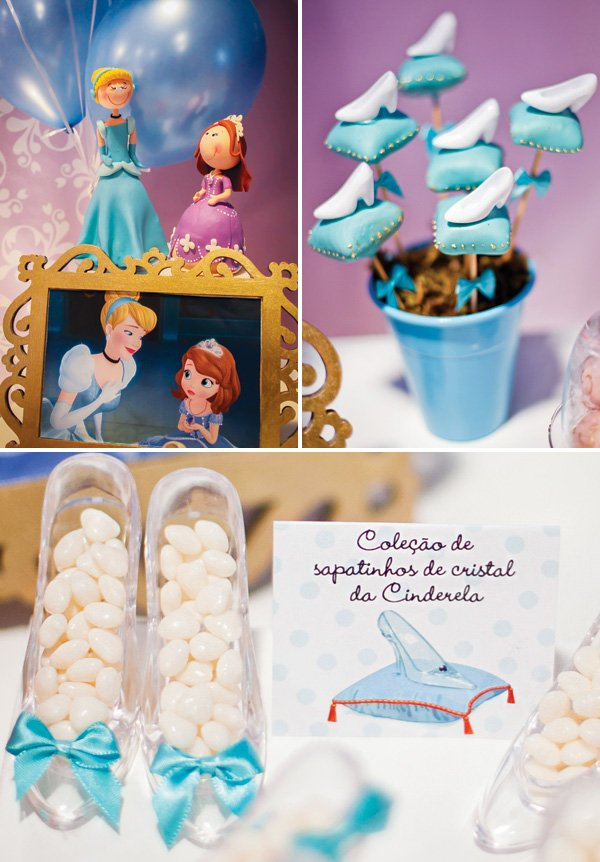 cinderella slipper desserts and display