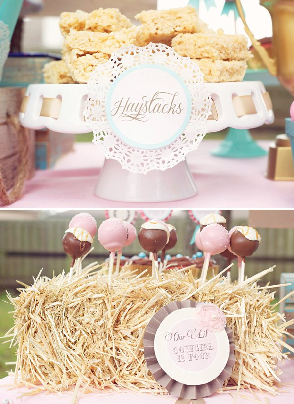 cowgirl and cowboy farm themed desserts