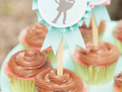 cowgirl party circle cupcake topper