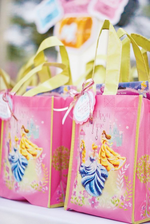 disney princess party favor tote bags