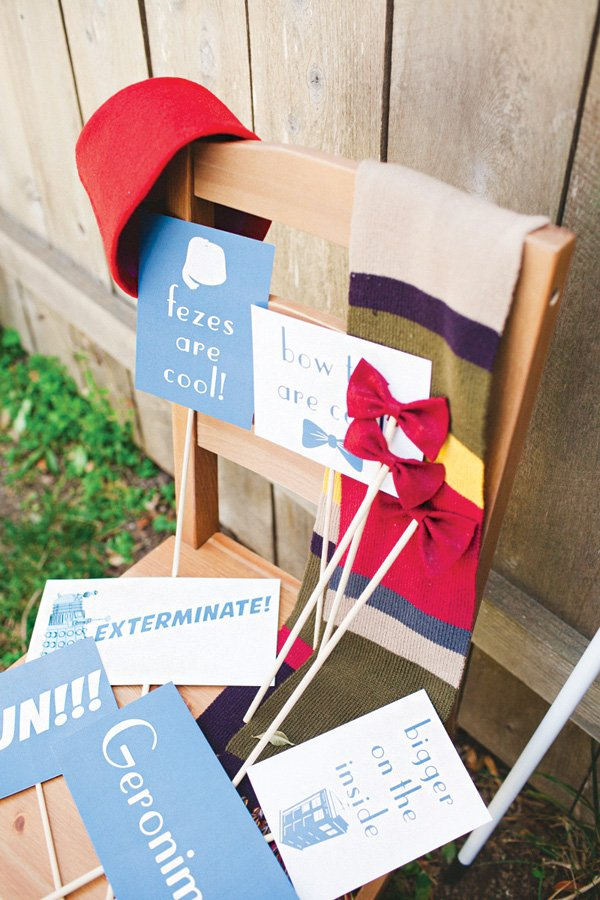 doctor who themed photo booth props