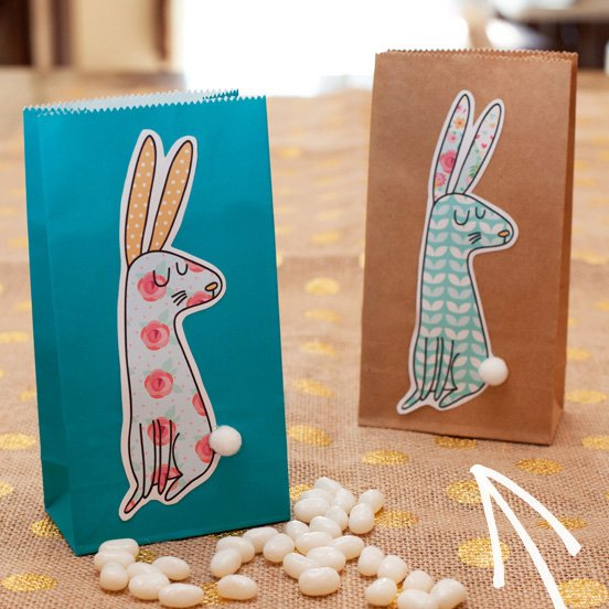 Printable Shabby Chic Easter Bunny Tags & Garland