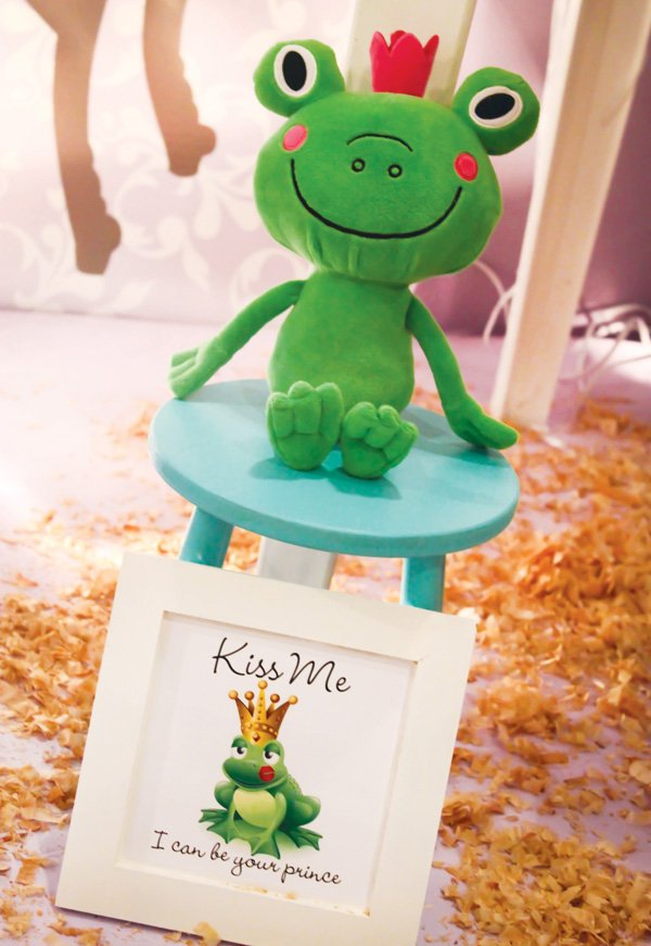 stuffed prince frog for sofia the first to kiss and turn into a prince