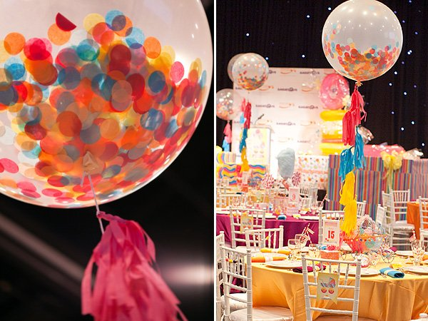 Giant Rainbow Confetti Balloons by Shop Sweet Lulu