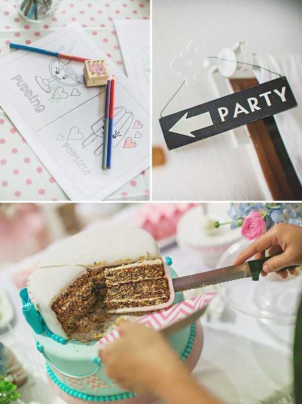 girl birthday party ideas, activities and cake