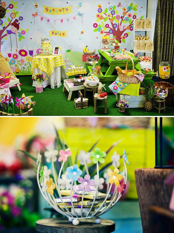 girly garden birthday party decor