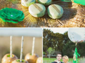 green and gold striped macarons and other st. patrick's day wedding inspiration