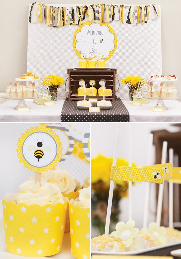 honey bee themed dessert table