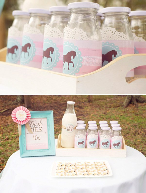 horse themed milk bottle wrap printables