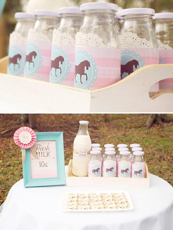 horse themed milk bottle wrap printables