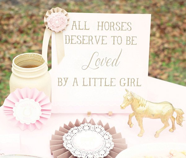 girl's horse themed birthday party
