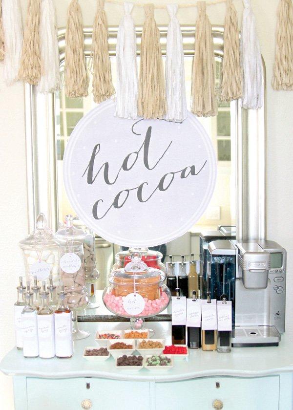 birthday party hot cocoa bar
