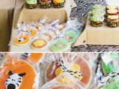 jungle animal cookie party favors and bags