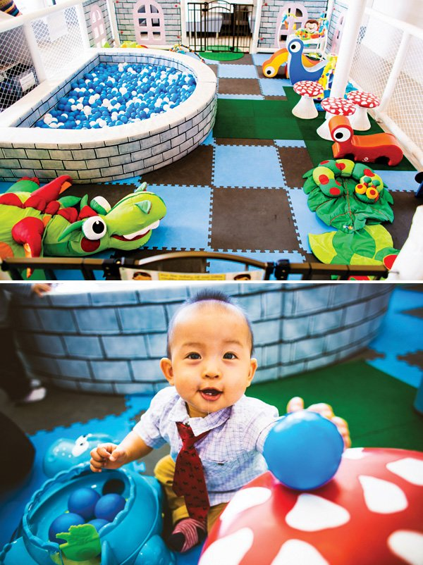 kids party ball pit and play area