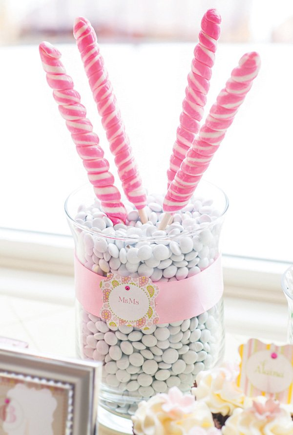 lollipop topped candy dishes